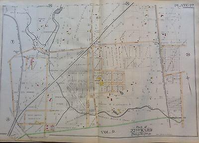 BROMLEY OGONTZ LOGAN /& LINDLEY STATION PHILADELPHIA PA COPY ATLAS MAP 1889 G.W