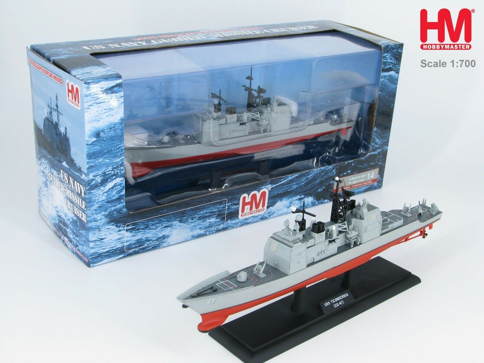 Hobby Master HSP1001,USS  Ticonderoga (CG-47) Ticonderoga Class Guided Missile Cr  pour pas cher