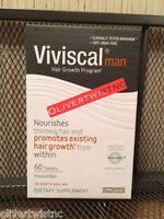 Viviscal Man 60 Tablets One Month Supply Expires Jan 2019 For Men Hair Growth