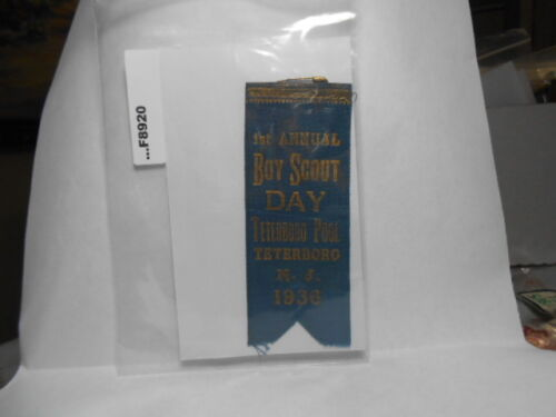 1936 1ST ANNUAL BOY SCOUT DAY TETERBORO N.J. F8920