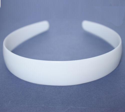 2.5cm HEADBAND CORE WHITE PLASTIC ALICE BAND HAIR BAND FORMER FOR OWN DESIGNS
