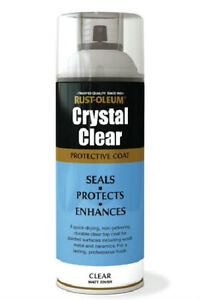 Rustoleum-CRYSTAL-CLEAR-MATT-FINISH-Fast-Dry-Spray-Paint-LACQUER-Aerosol-400ml