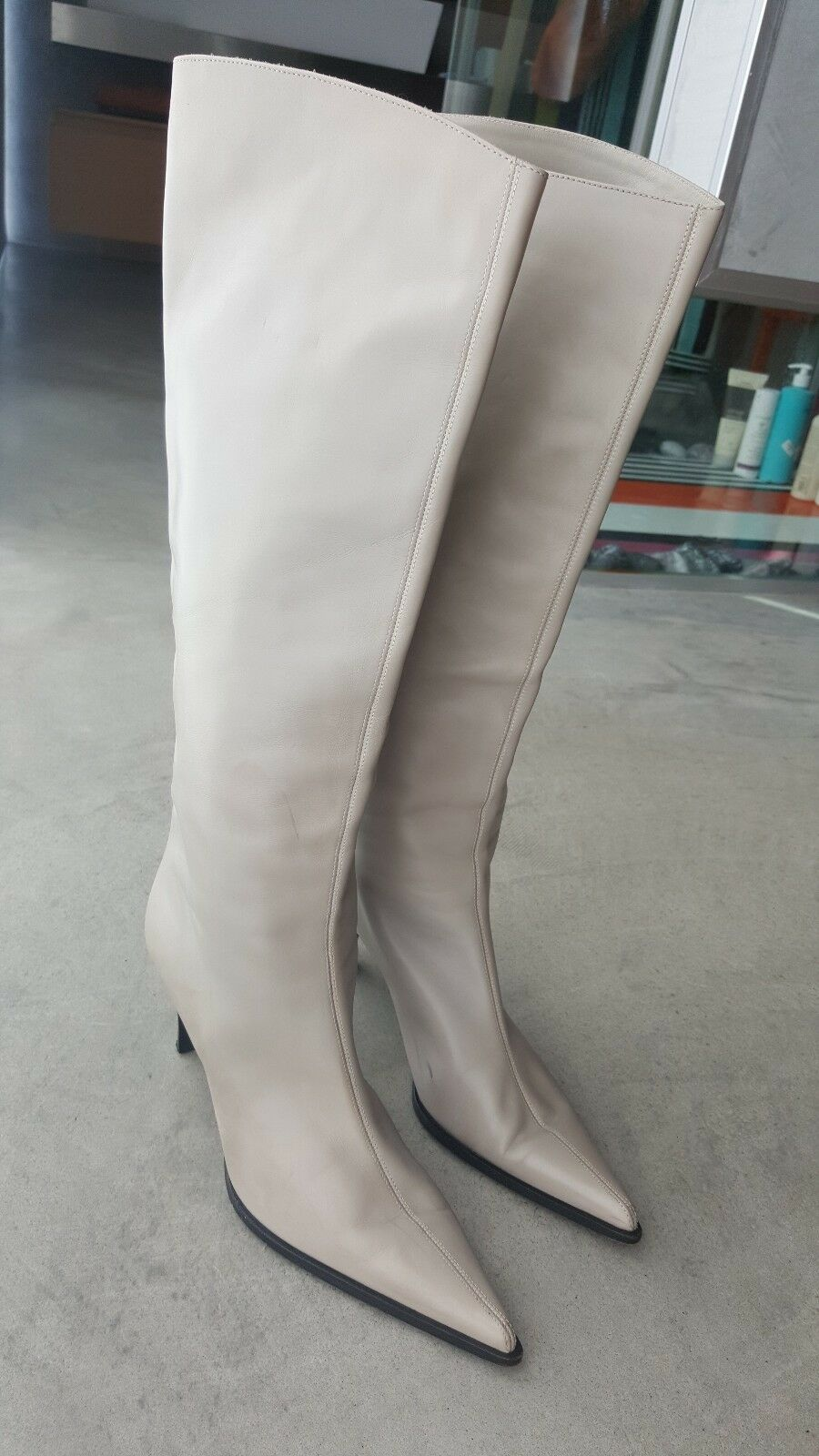 Gentleman/Lady SERGIO ROSSI Knee BootS 39.5 flagship store delicate Current shape