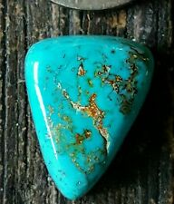 Blue Gem Turquoise Cabochon,12.4ct Deep Radiant Natural Blue Gemstone!!!!