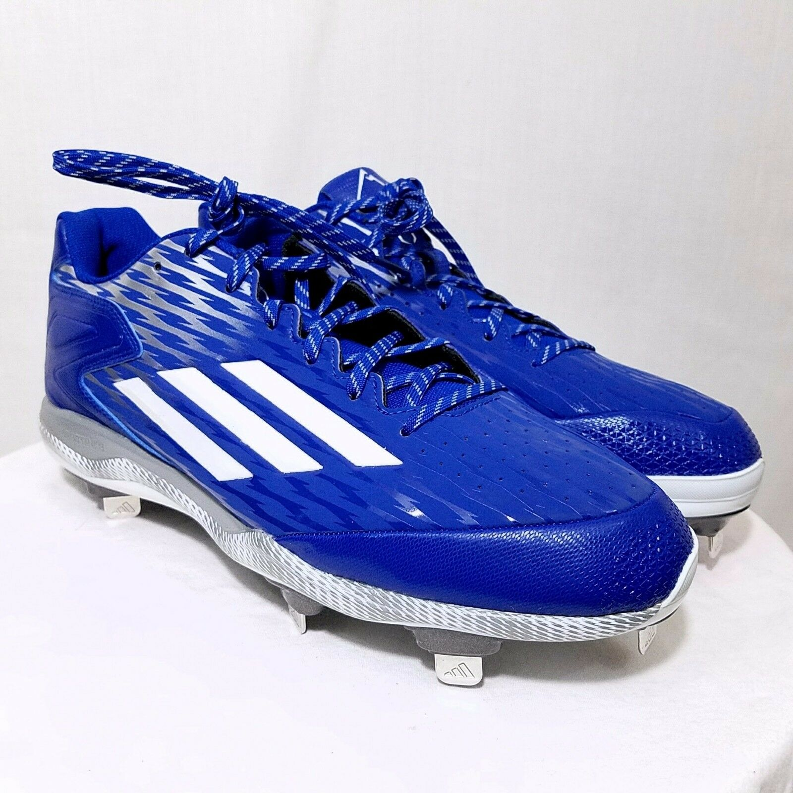 d7ad3f2fd35 Adidas Mens PowerAlley 3 Baseball Cleats Metal Performance shoes S84763 US  12.5