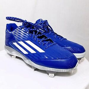 Adidas-Mens-PowerAlley-3-Baseball-Cleats-Metal-Performance-Shoes-S84763-US-14