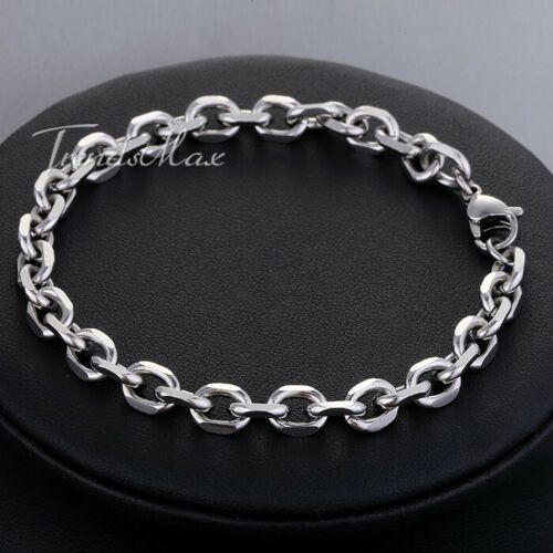 3//4//6//10mm Cable de enlace para mujeres Para hombres cadena Rolo Pulsera De Acero Inoxidable