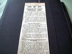 67-8-ephemera-1916-article-ww1-fall-of-kut-general-townsend-surrenders