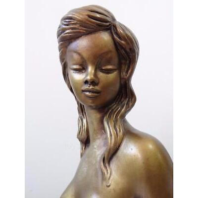 Mid Century Vintage Nude Lady Statue ChalkWare Figural Tretchikoff Style