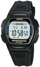 Casio Women's LW201-2AV Black Resin Quartz Watch with Digital Dial