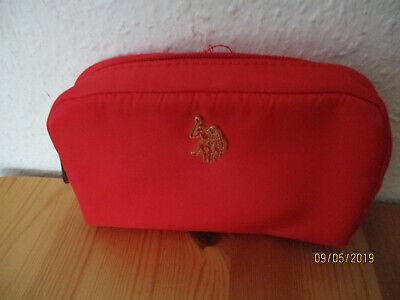"""Aktiv Rote Kosmetiktasche """" U.s. Polo Assn."""" Rot Neu Phantasie Farben"""