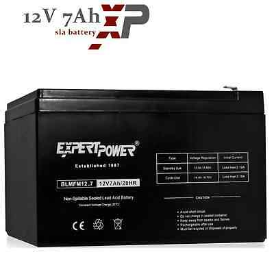 ExpertPower 12 Volt 7Ah AGM SLA Universal Battery for Home Alarm System and FIOS