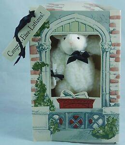 Fuzzy-Greetings-Sheep-7-034-Plush-Toy-Graduation-Gift-1990-North-American-Bear-Co