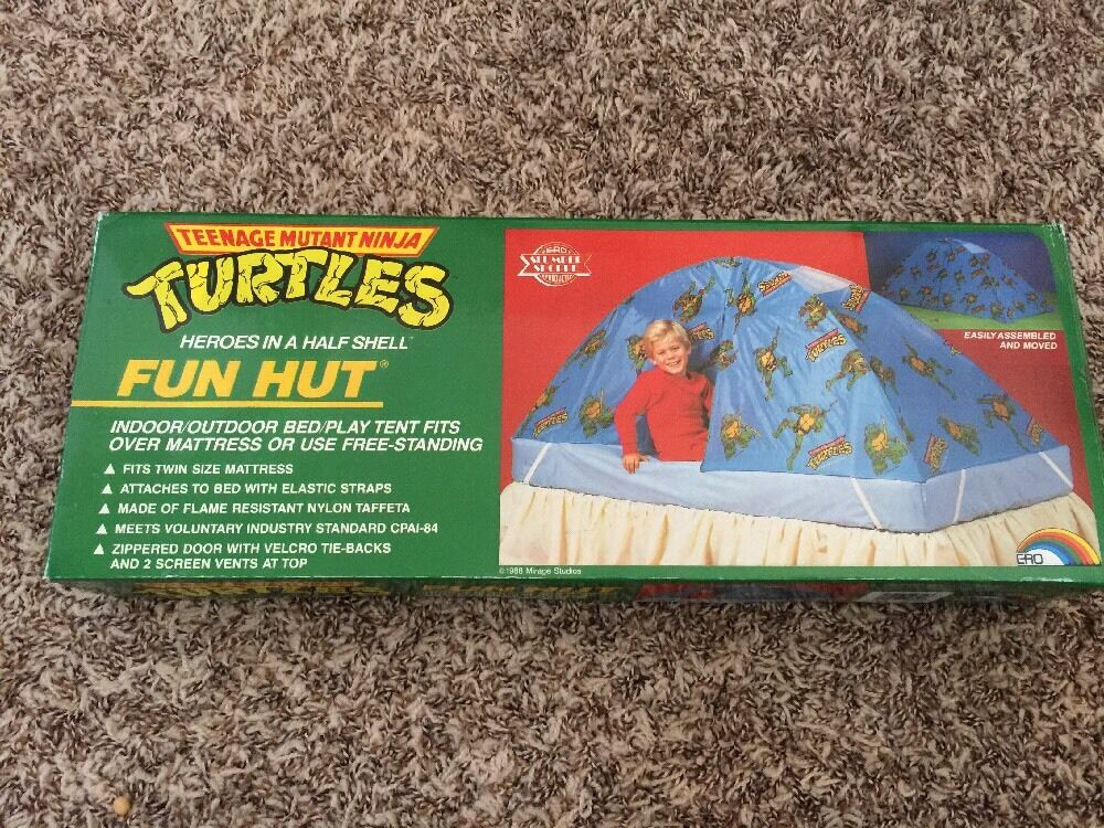 Vintage TMNT Teenage Mutant Ninja Turtles FUN HUT -SEALED-Super Rare Look