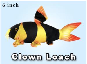 6 inch Clown Loach Plushie by Green Pleco