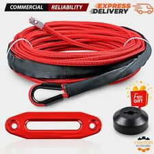 14 X 50 Red Synthetic Winch Rope 7000lb 6 Hawse Fairlead Stopper Atv Utv