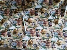 "58/"" Cotton Fish Fishing Medium Weight T-shirt Knit Fabric Print D339.13"