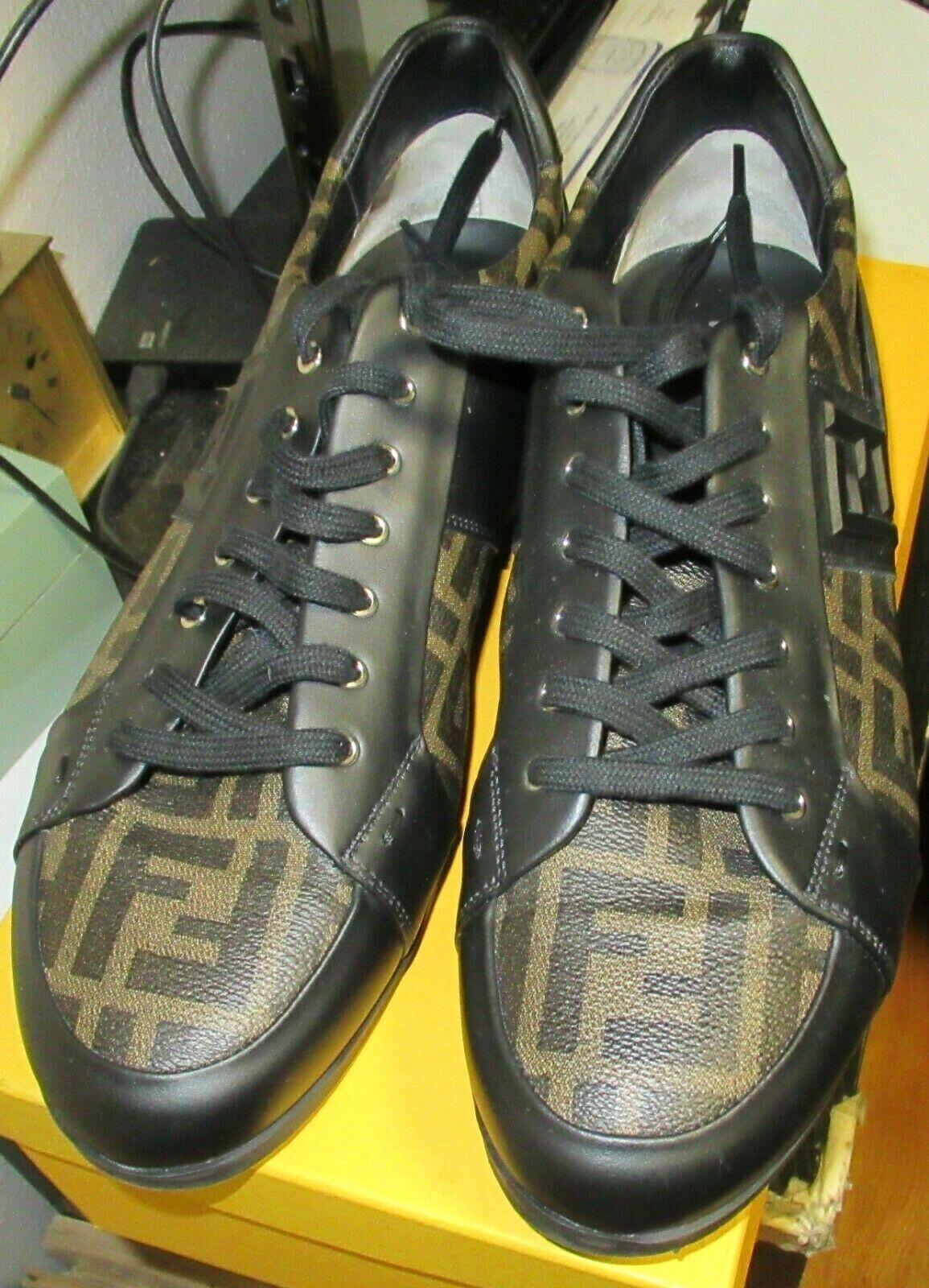 Para Hombre Auténtico FENDI Talla 10 calzado deportivo con caja original y de la recepción