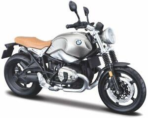 BMW Scrambler R nineT - silver / black - Maisto 1:12