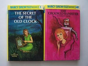 Carolyn Keene Nancy Drew Mystery Stories Hardcover 2 Bo
