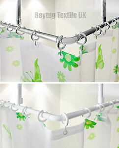 Image Is Loading Corner Shower Curtain Rail Rod L Shape 2