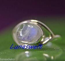 Ring Silber 925  mit Edelstein Mondstein Handarbeit aus Indien Gr 55
