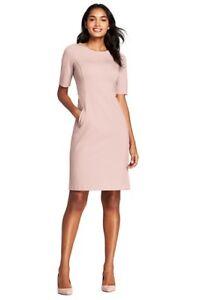 51703bbf Lands End Women's Elbow Sleeve Ponte Sheath Dress Washed Pink New | eBay