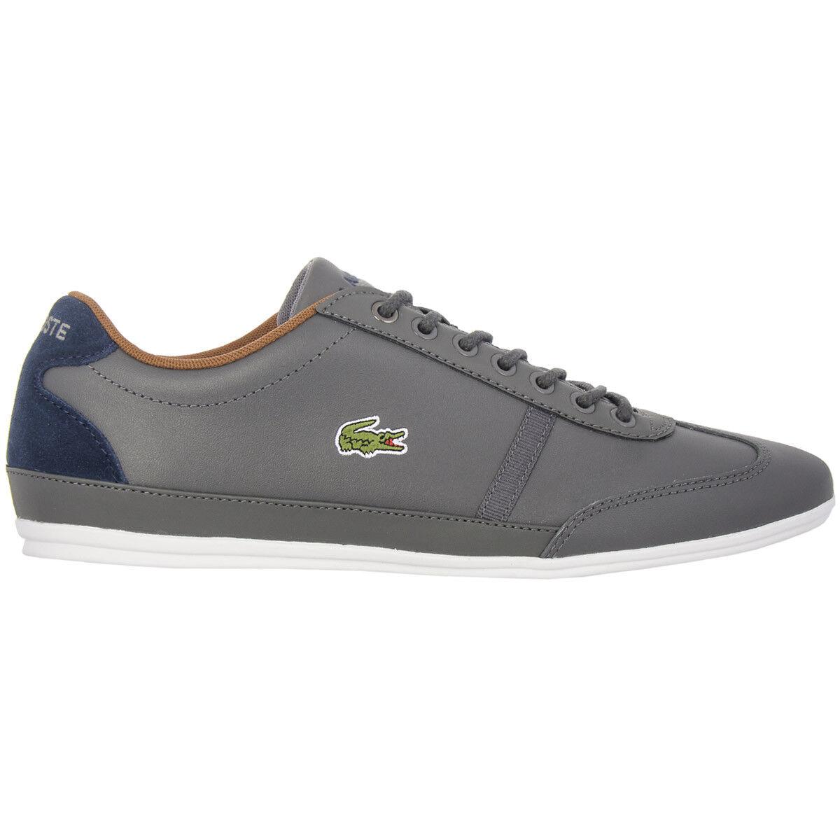 Lacoste scarpe da ginnastica Uomo Misano Sport Grigio Scarpe di pelle Casual Nuovo | Conosciuto per la sua eccellente qualità  | Uomini/Donna Scarpa