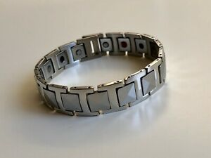 Magnetic-therapy-Tungsten-Bracelet-Pain-Relief-Energy-Health-Stamina-Ions