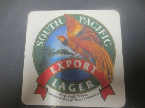 1 only South Pacific Brewery TOP SHELF BEER Issue BEER COASTER
