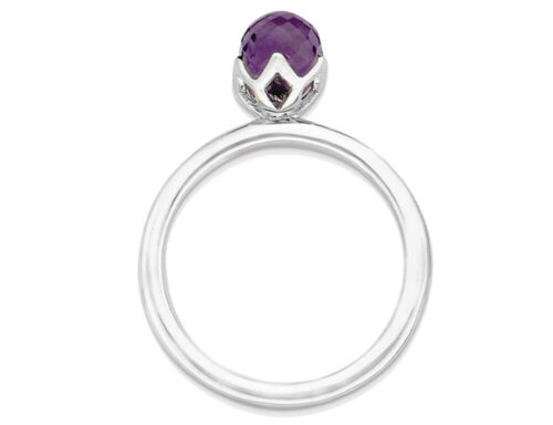 Amethyst Ring in Sterling Silver Details about  /1.00 Carat ctw