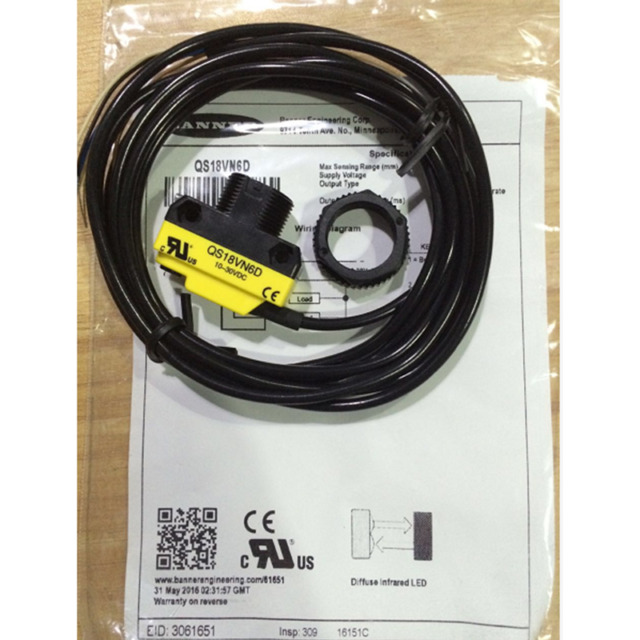1PC NEW QS18VN6D Banner Engineering Corp Photoelectric Sensor