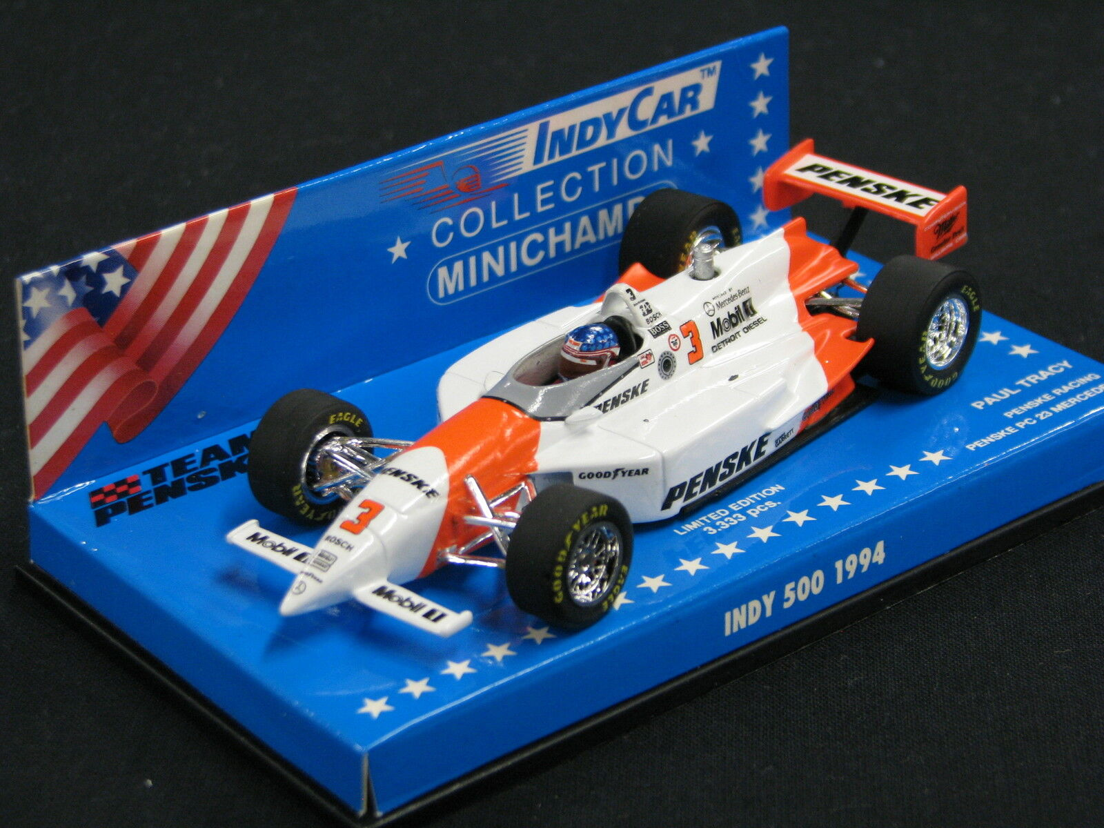 Minichamps Penske PC 23 Mercedes 1994 1 43  3 Paul Tracy Indy 500 (JS)