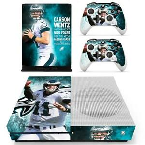 Xbox One S Slim Skin Carson Wentz Eagles Vinyl Skin Stickers Decals For Console Faceplates, Decals & Stickers Video Games & Consoles