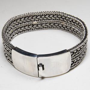 Bangle .925 silver torc wristband biker Gothic viking Mjolnir Pagan feeanddave