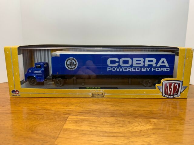 M2 Machines 1956 Ford C-500 COE & Shelby Cobra Trailer