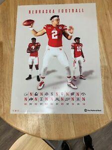 Nebraska Football Schedule 2020.Details About Nebraska Football Schedule 2019 2020 Scott Frost Adrian Martinez Mint Condition