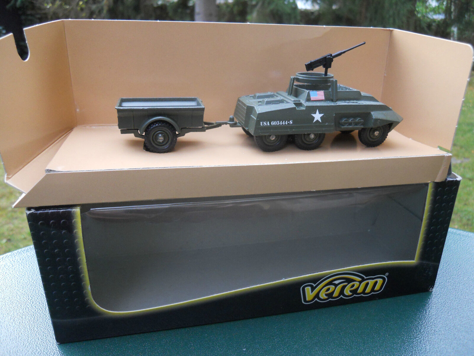 SOLIDO MILITARY VEREM REF V9533 FORD M20 + TRAILER OLIVE DRAB MINT IN BOX