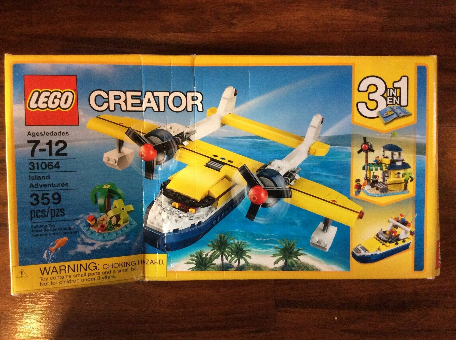 New Lego Creator Island Adventures Set 31064 in Sealed Damaged Box