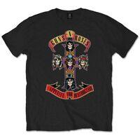 Official GUNS N ROSES Appetite For Destruction T-shirt Black Sizes S to XXL