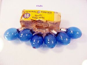 Vintage 8 GE 5B Blue Flashbulbs Fits Variety of Camera's New Old Stock | $7 |