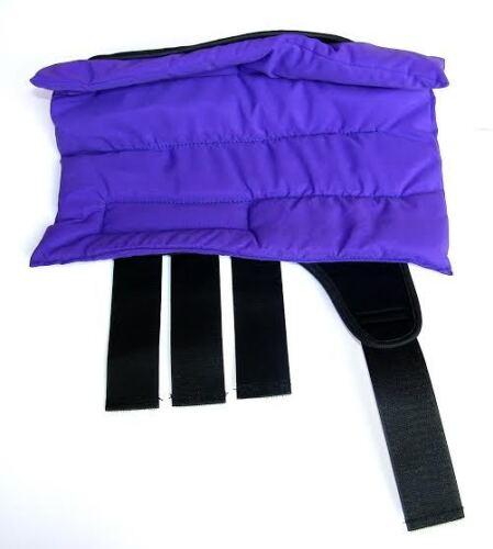 Bnwt Bottes horse stable // wraps violet Amidale Sports ensemble de quatre