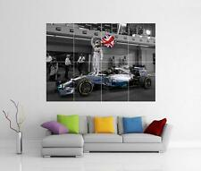 LEWIS HAMILTON CANVAS F1 FORMULA ONE MERCEDES GIANT ART PHOTO PRINT POSTER