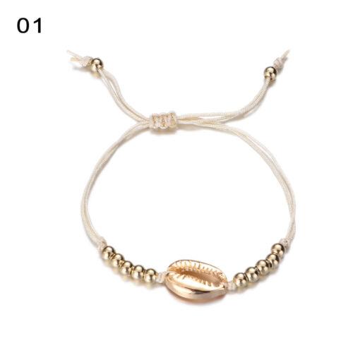 Bohemia Cowrie Shell Jewelry Bead Bracelets Weave Rope Bangles Beach Gift