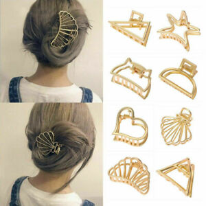 Women-Geometric-Hair-Claw-Hair-Holder-Claw-Gold-Hollow-Hair-Clips-Hair-Crab-Clip