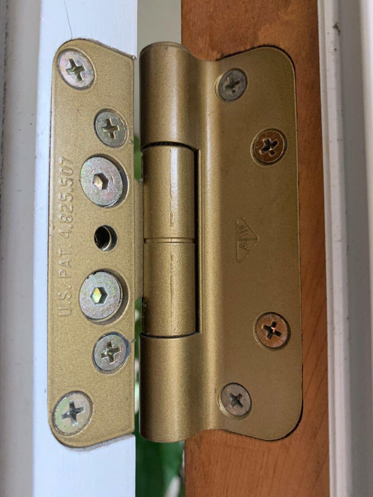 2 Hinges Handicap Brass Expandable Door Hinges