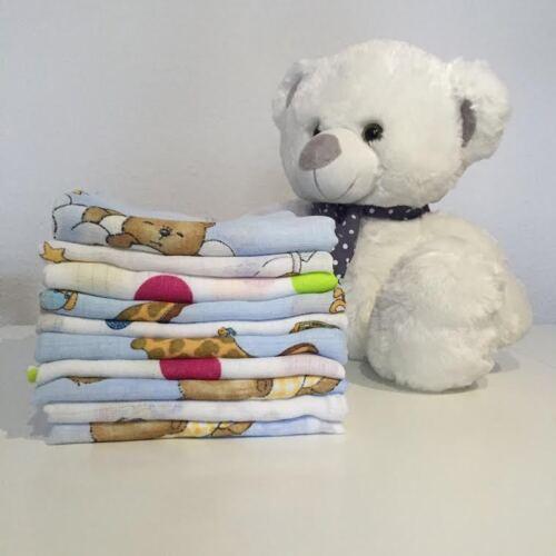 20 tissu Couches coloré tissu couche mullwindeln spucktuch pur coton 60x80 CM