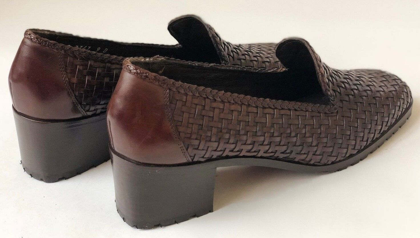 Cole Haan Vintage Basket Weave Leather Brogue Boots Boots Boots Size 9 US (2 Inch heel) fb29f5