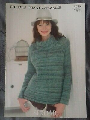 Knitting Pattern Sirdar Lady's Sweater, Peru, 8979 (200120) | eBay