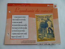 CARTE FICHE PLAISIR DE CHANTER POLIN L'ANATOMIE DU CONSCRIT